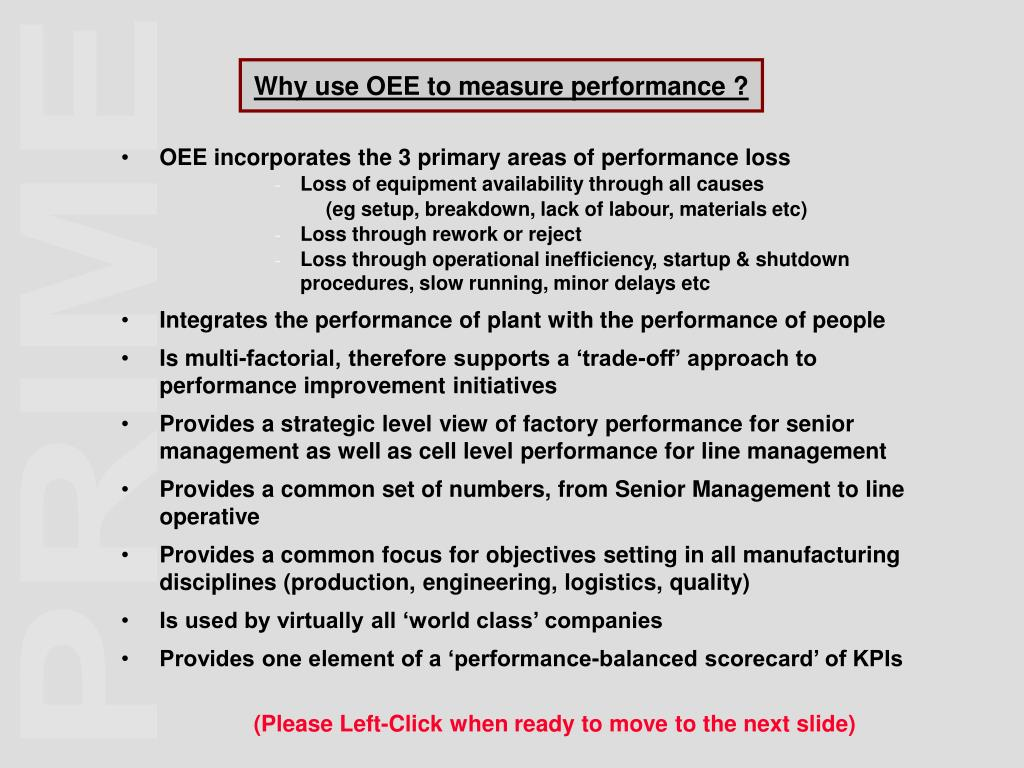 Why use OEE to measure performance ?