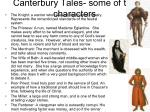 canterbury tales some of the characters