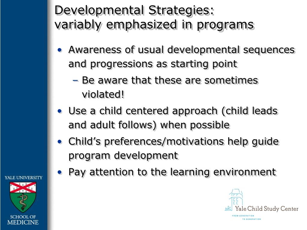 Developmental Strategies: