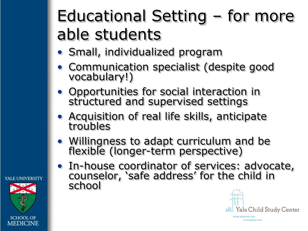 Educational Setting – for more able students