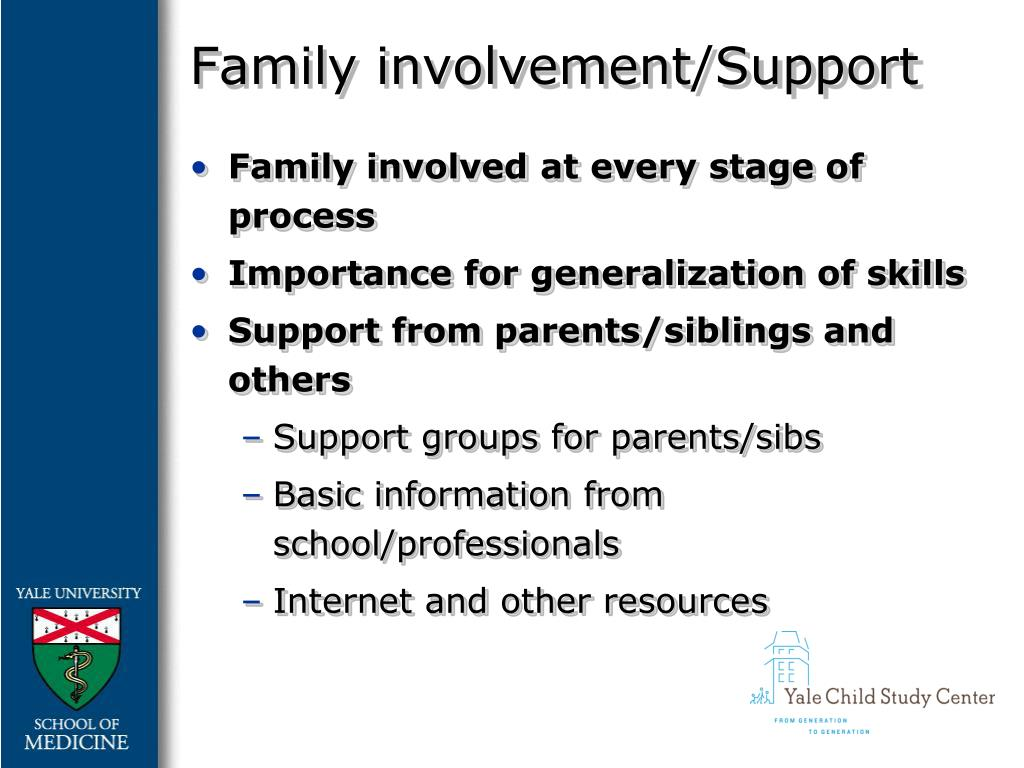 Family involvement/Support