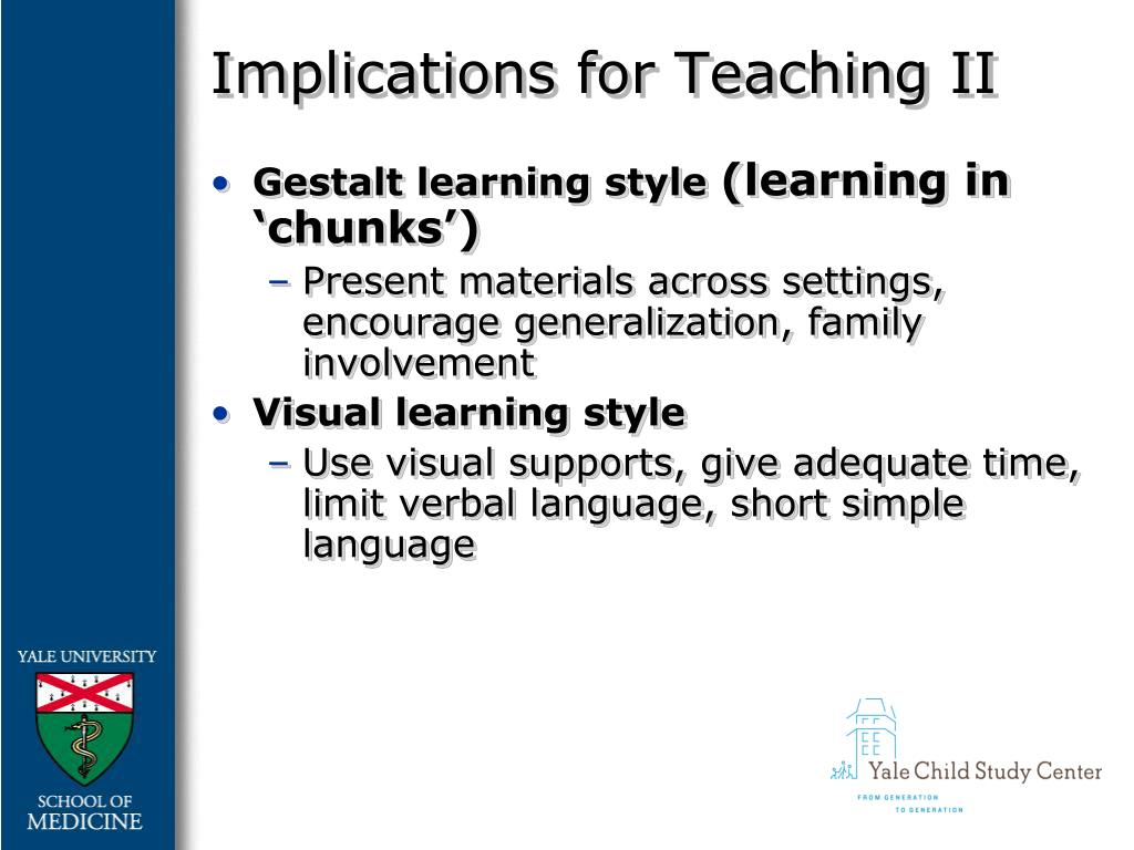 Implications for Teaching II
