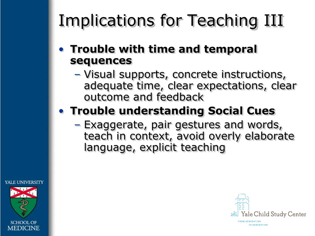 Implications for Teaching III