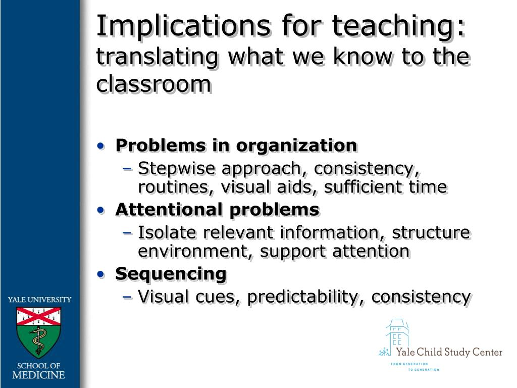 Implications for teaching: