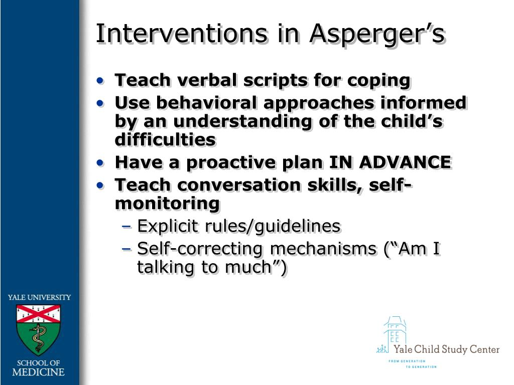 Interventions in Asperger's