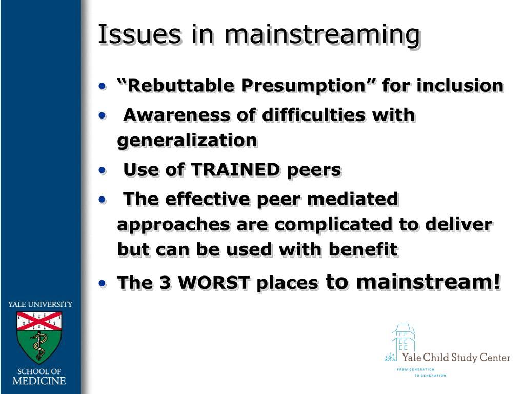 Issues in mainstreaming