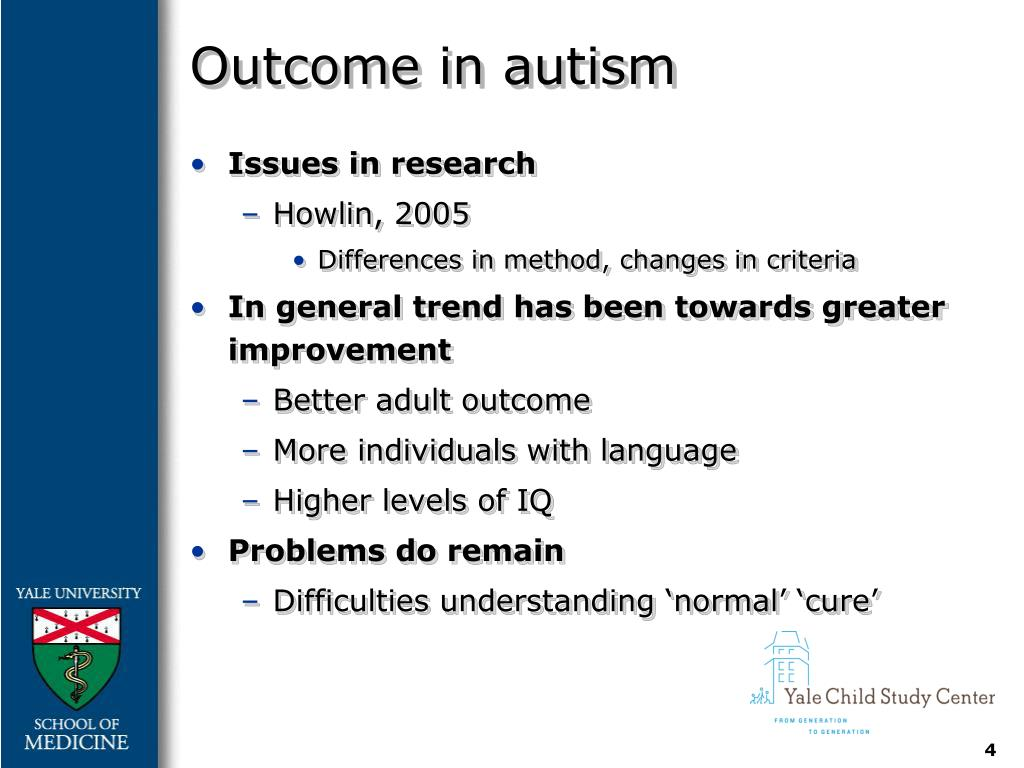 Outcome in autism