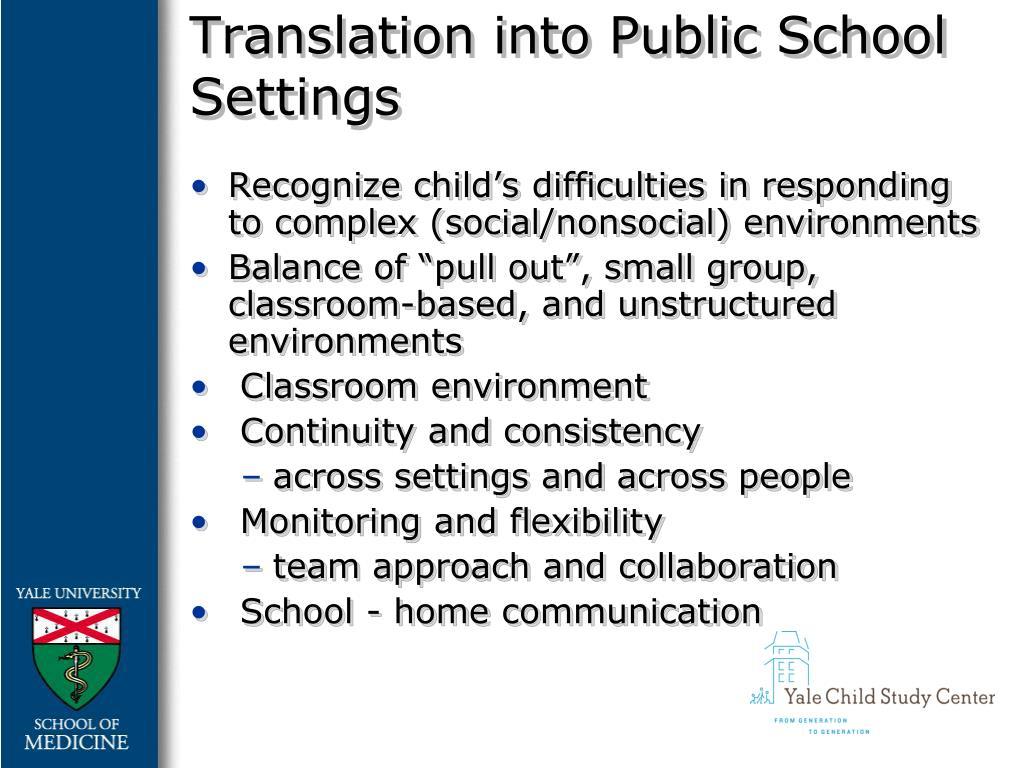 Translation into Public School Settings