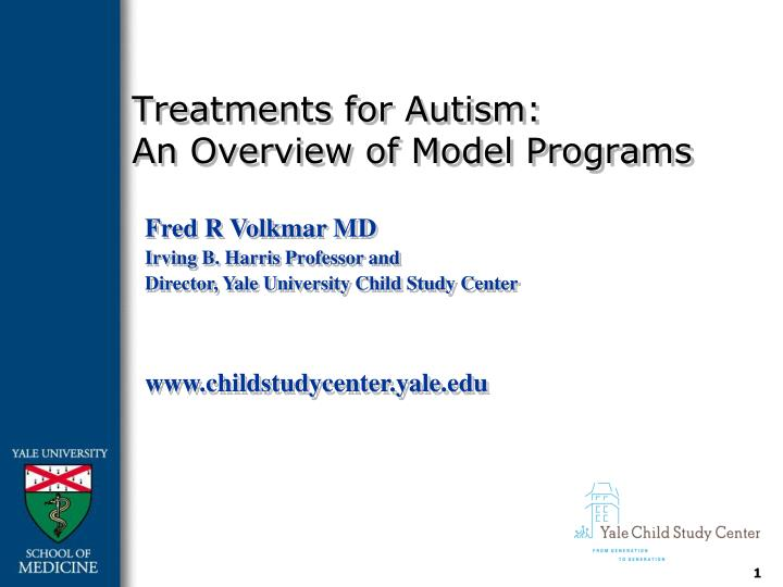 treatments for autism an overview of model programs n.