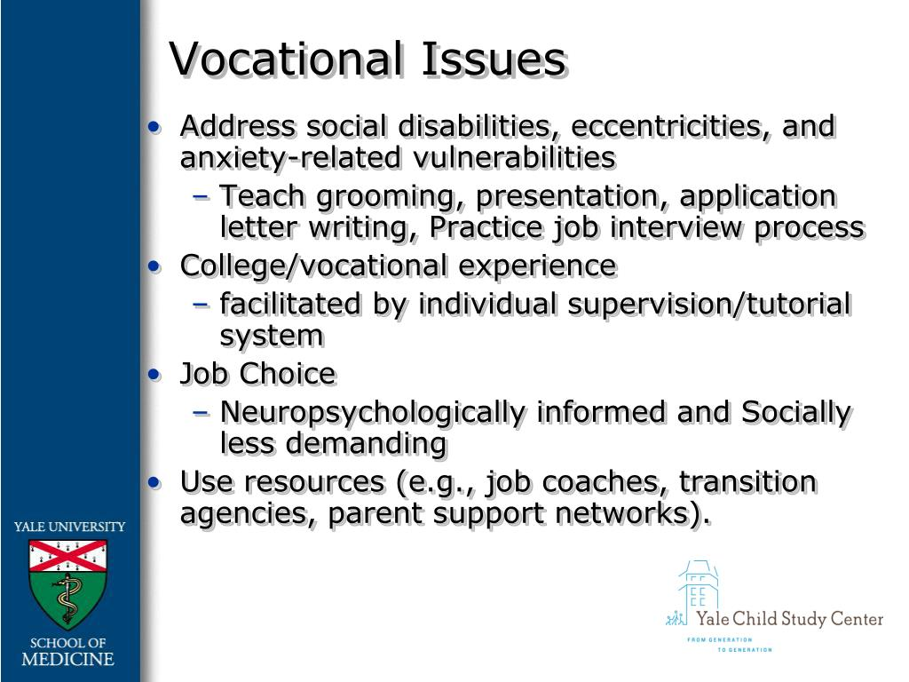 Vocational Issues