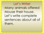 let s write97