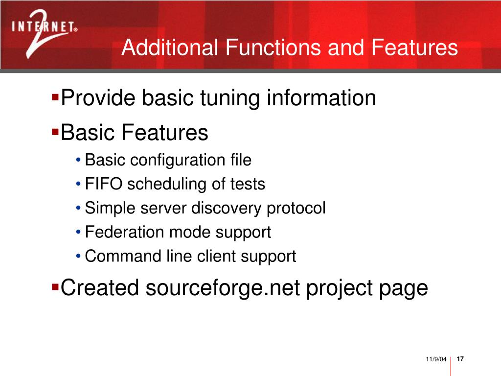 Additional Functions and Features