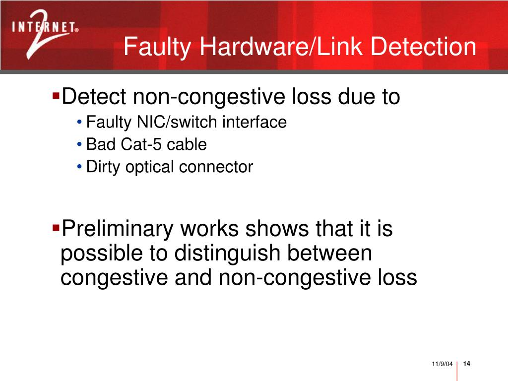 Faulty Hardware/Link Detection