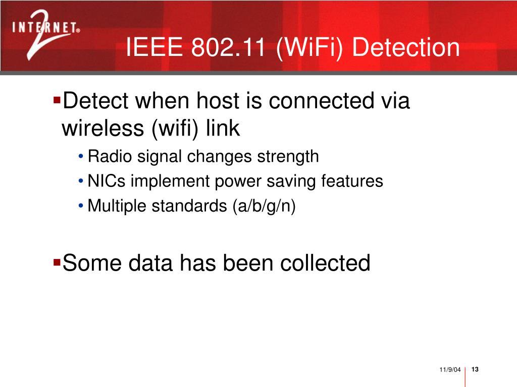 IEEE 802.11 (WiFi) Detection