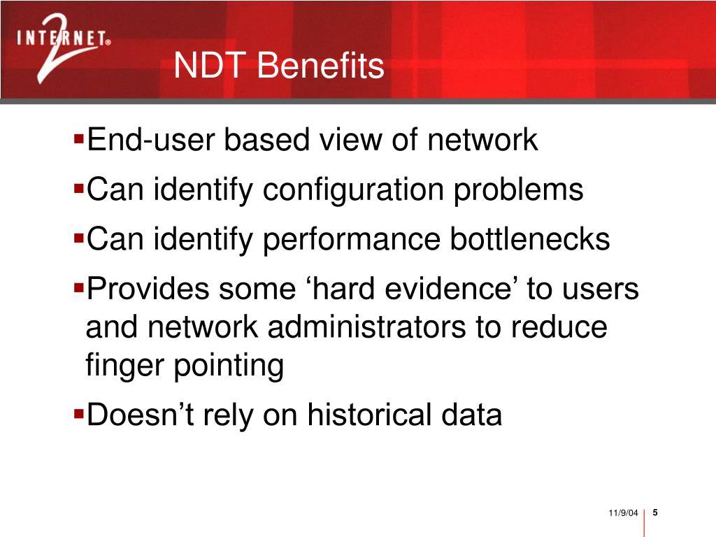 NDT Benefits