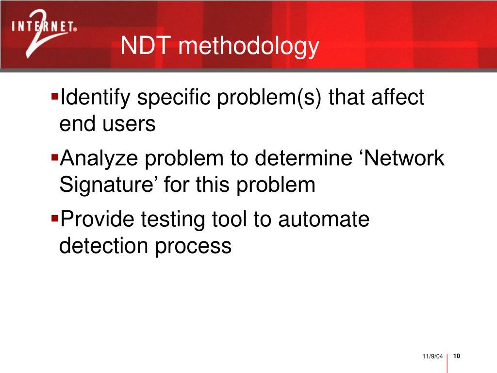 NDT methodology