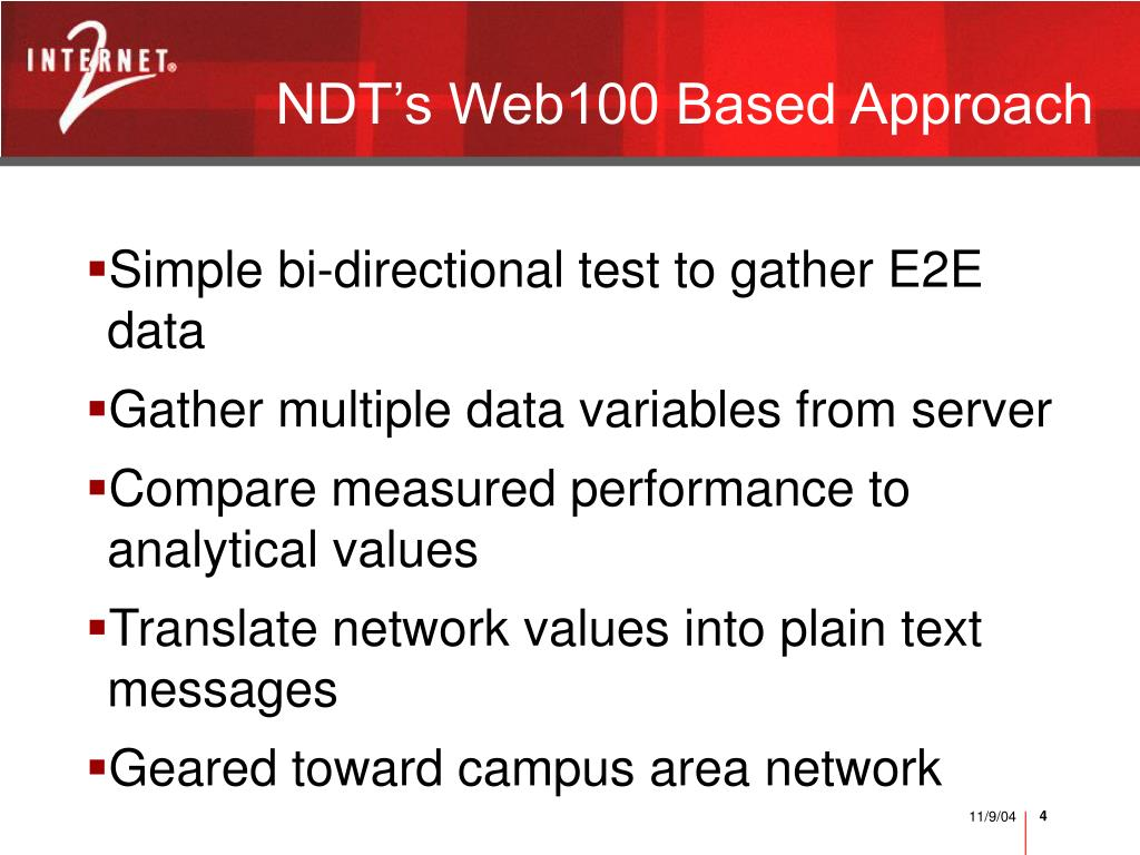 NDT's Web100 Based Approach