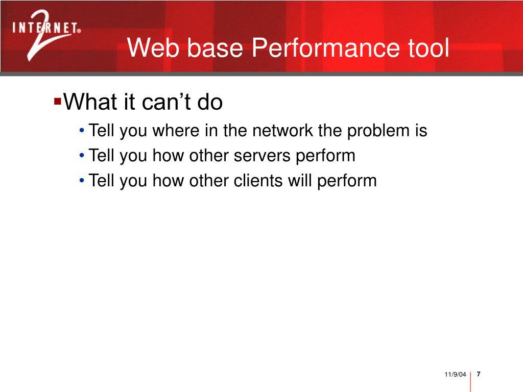 Web base Performance tool