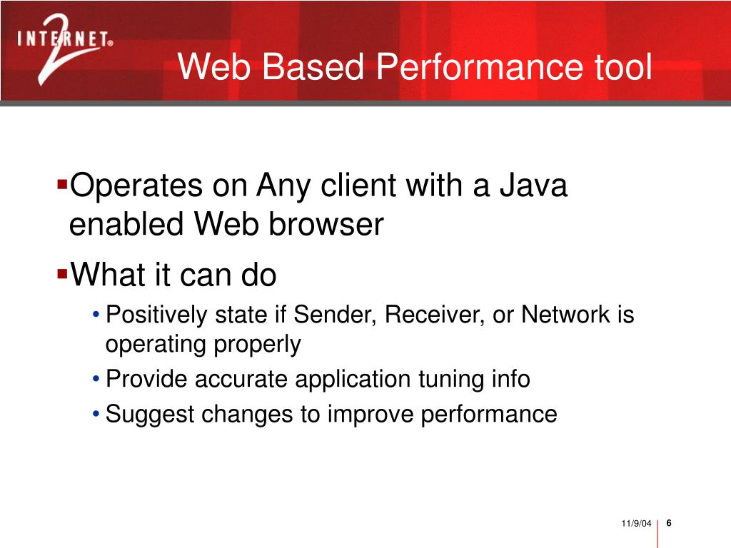 Web Based Performance tool