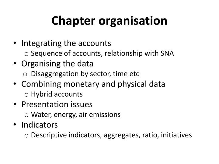 Chapter organisation