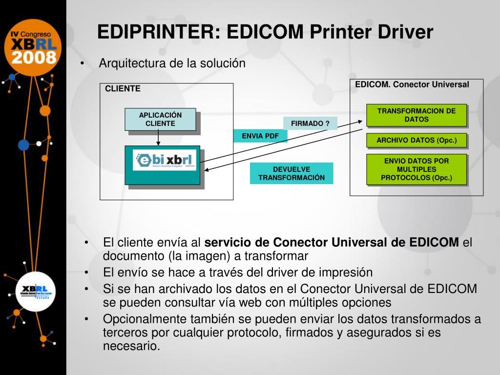 EDIPRINTER: EDICOM Printer Driver