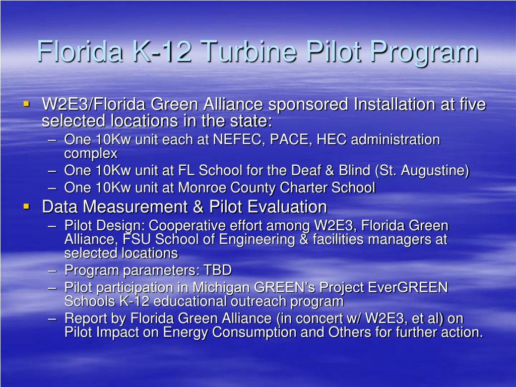 Florida K-12 Turbine Pilot Program