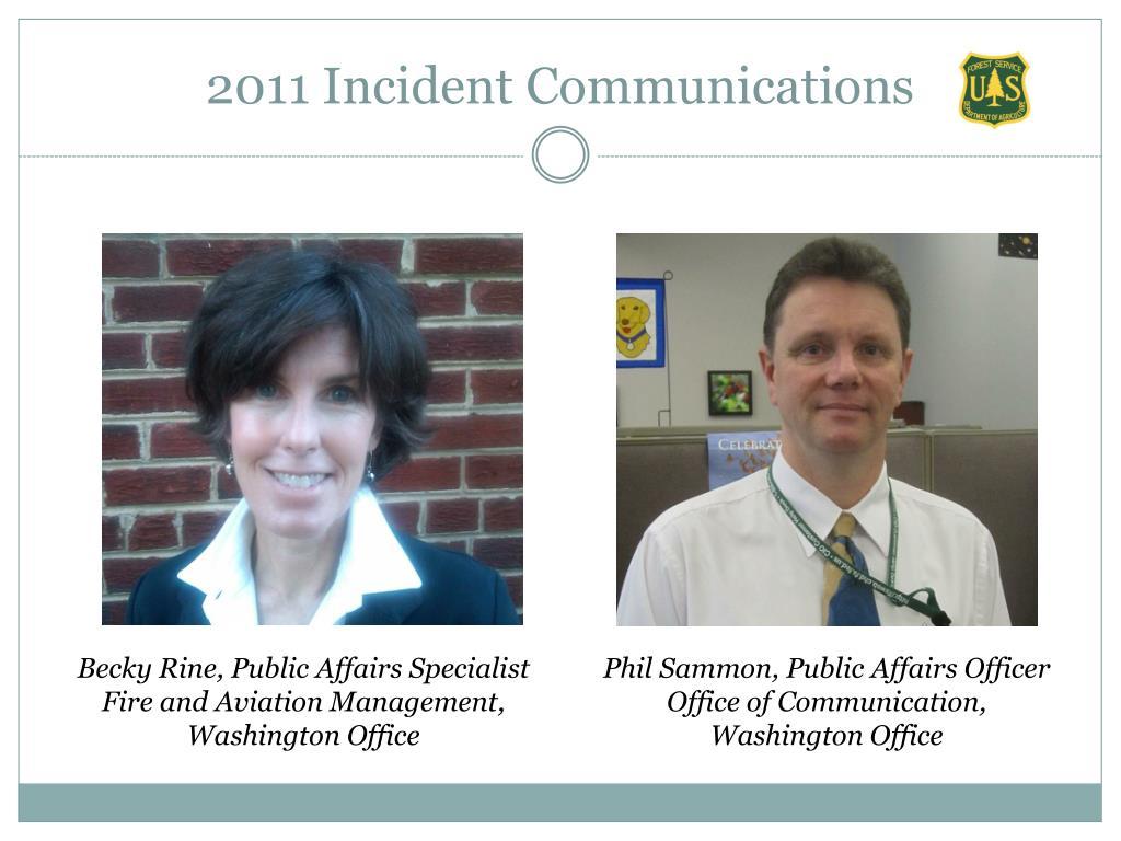 2011 Incident Communications