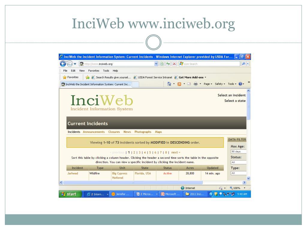 InciWeb