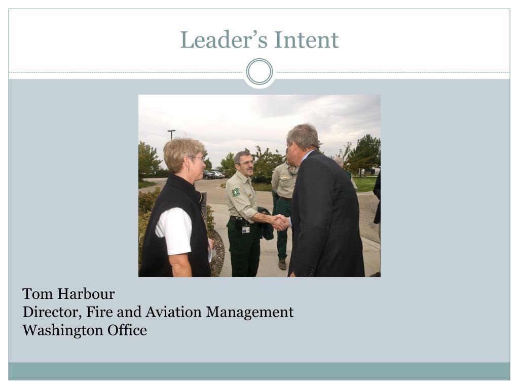 Leader's Intent