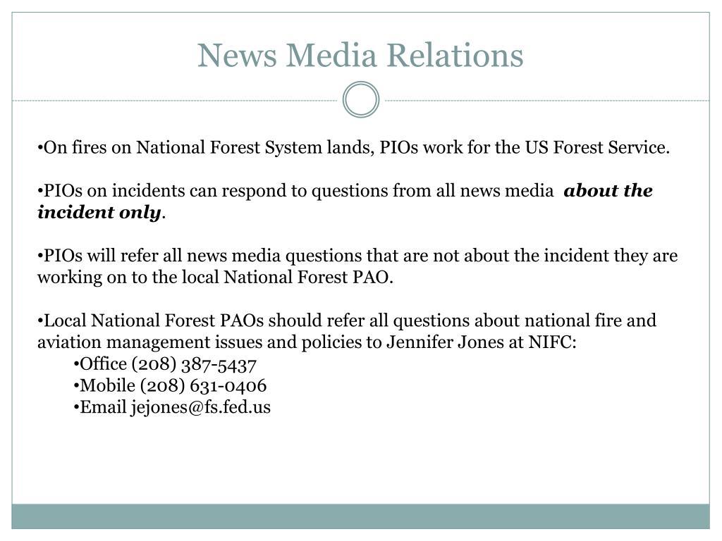 News Media Relations