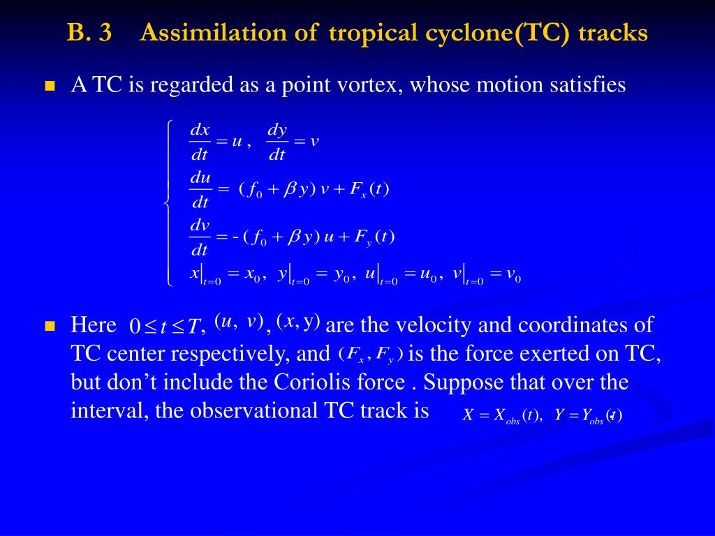 B. 3    Assimilation of tropical cyclone(TC) tracks