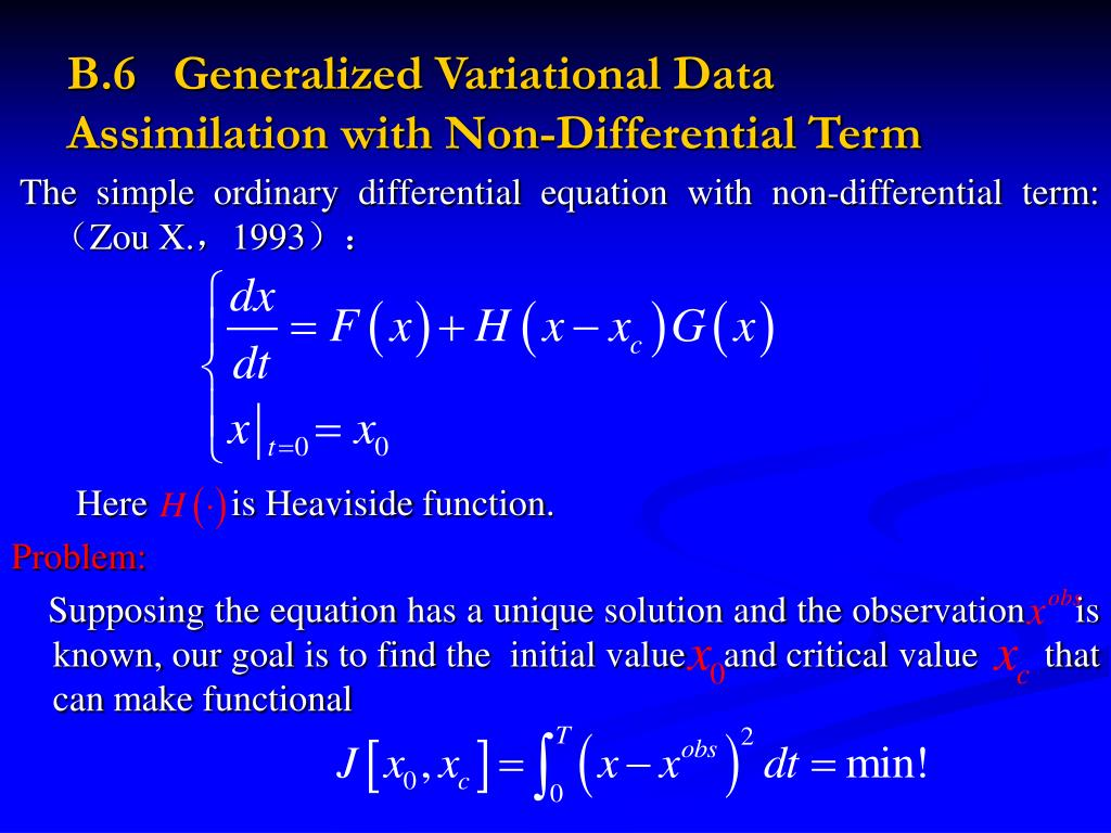 B.6   Generalized Variational Data Assimilation with Non-Differential Term
