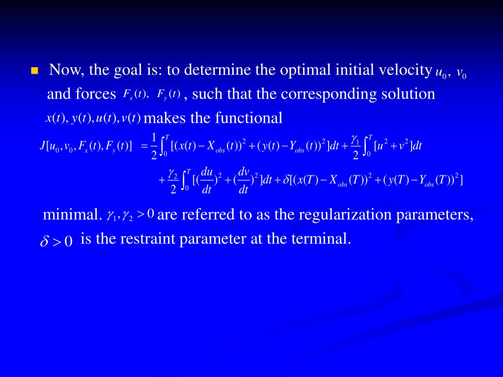 Now, the goal is: to determine the optimal initial velocity