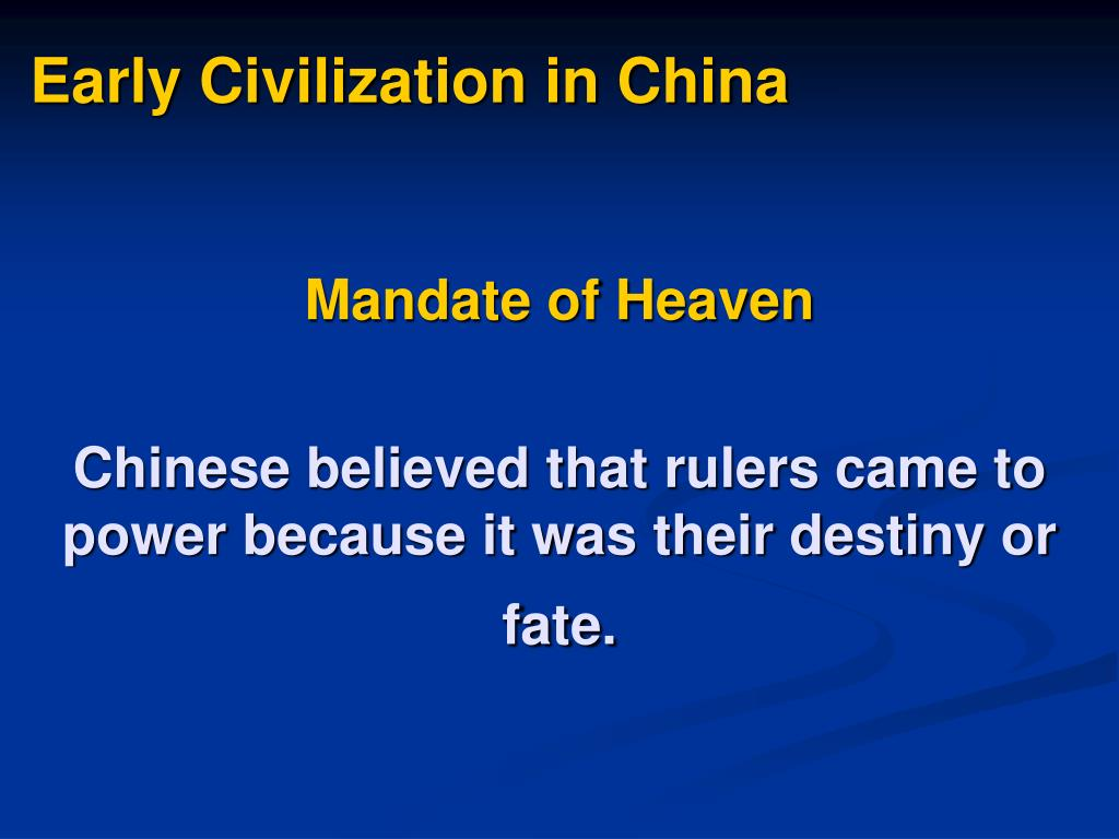 Early Civilization in China