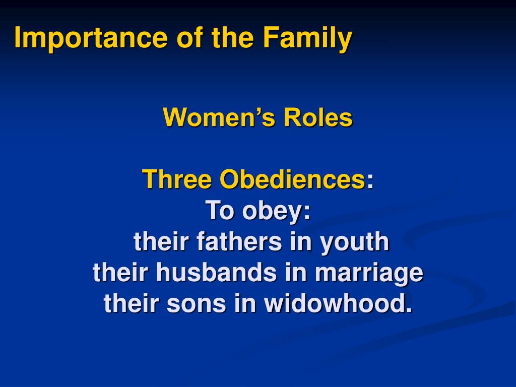 Importance of the Family