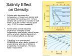 salinity effect on density