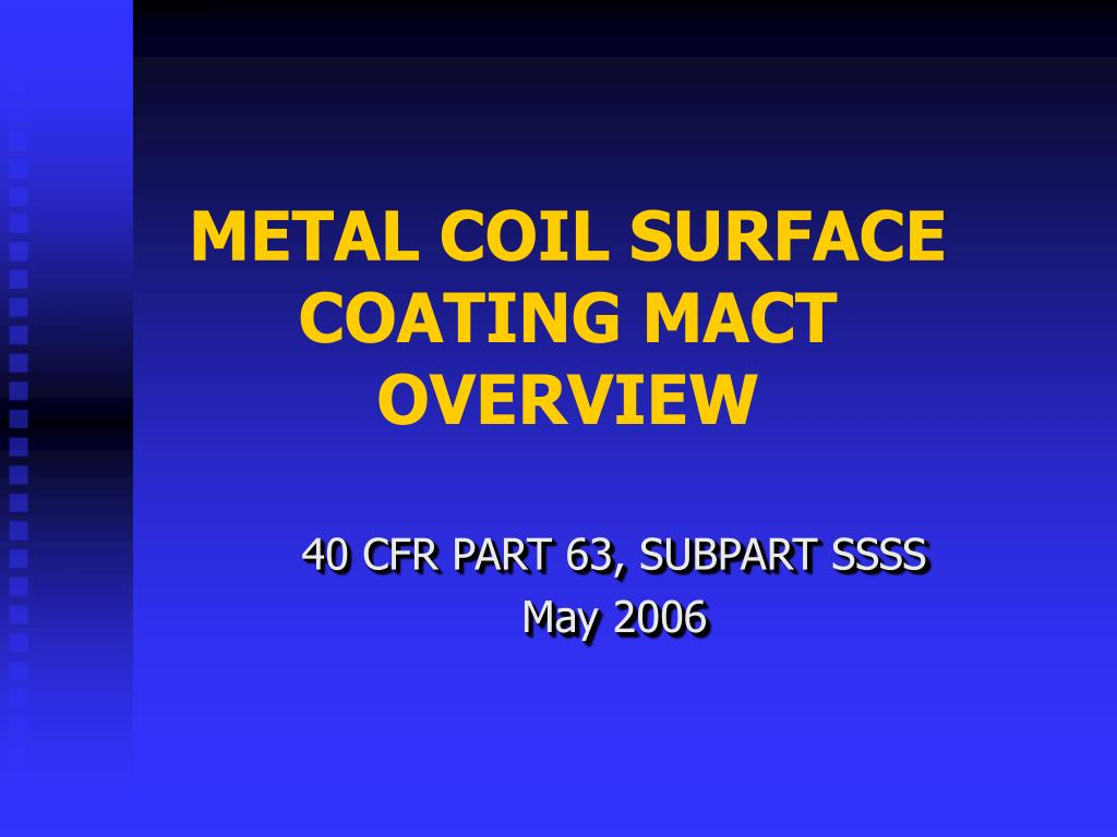 metal coil surface coating mact overview l.
