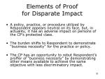 elements of proof for disparate impact
