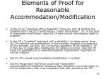 elements of proof for reasonable accommodation modification