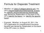 formula for disparate treatment