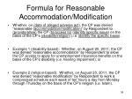 formula for reasonable accommodation modification