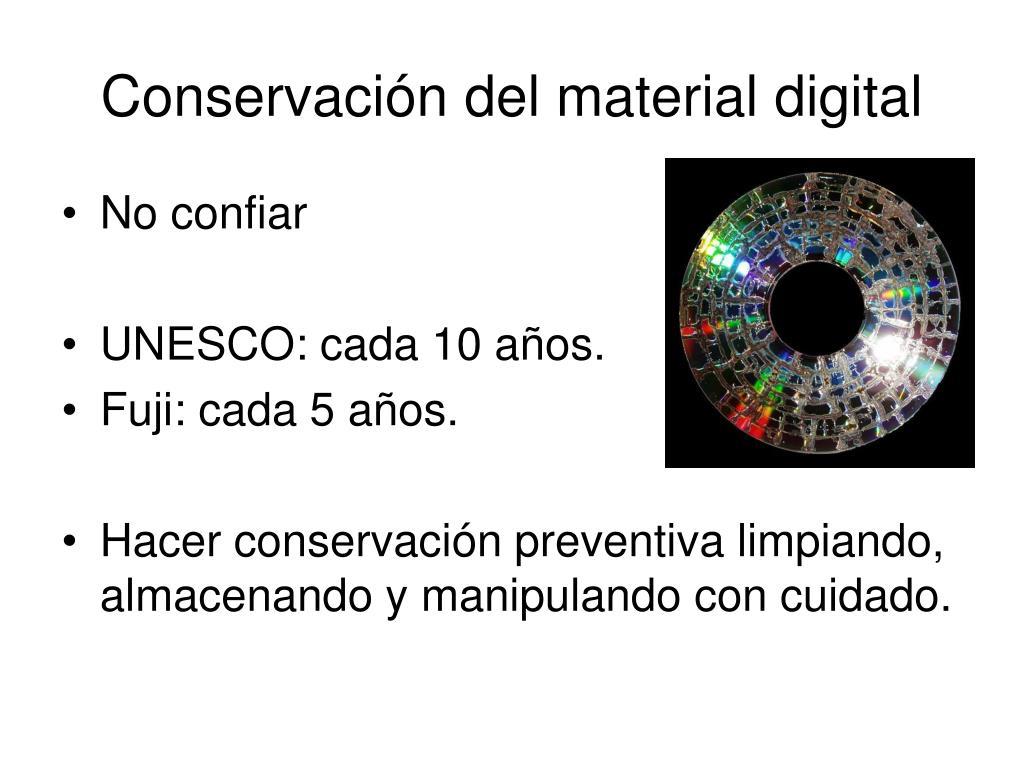 Conservación del material digital