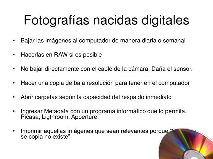 Fotograf as nacidas digitales