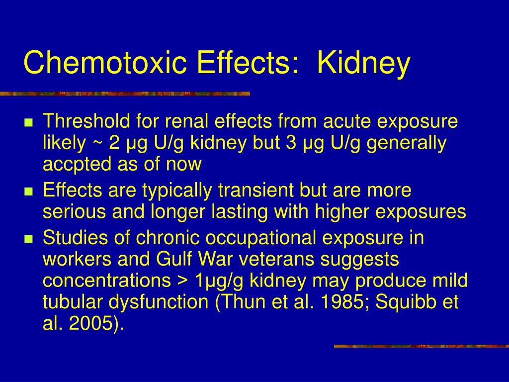 Chemotoxic Effects:  Kidney
