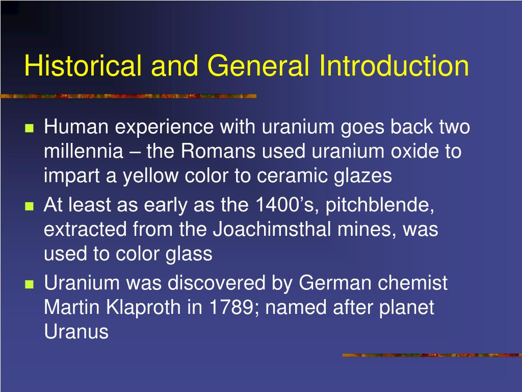 Historical and General Introduction