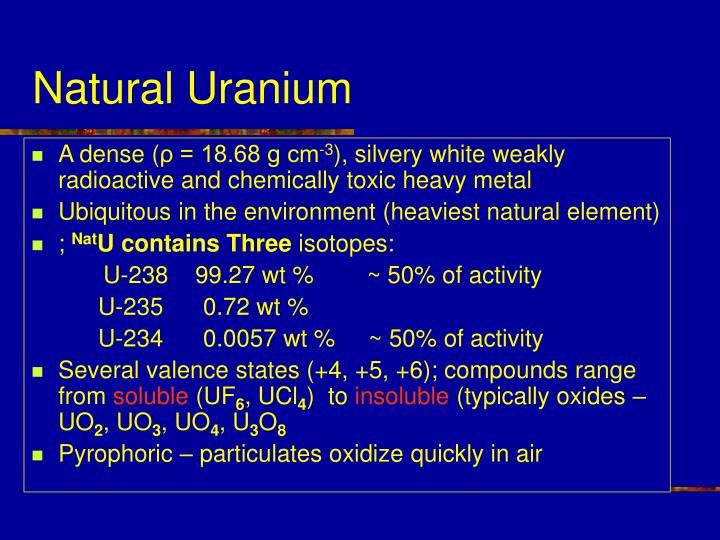 Natural uranium