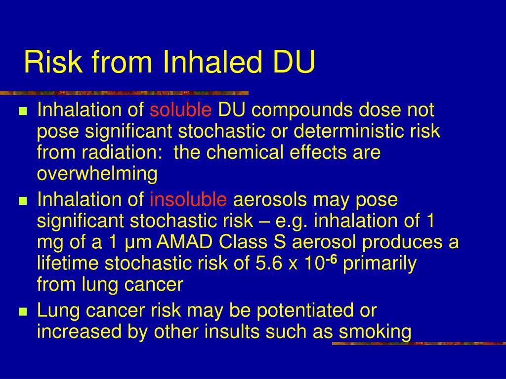 Risk from Inhaled DU