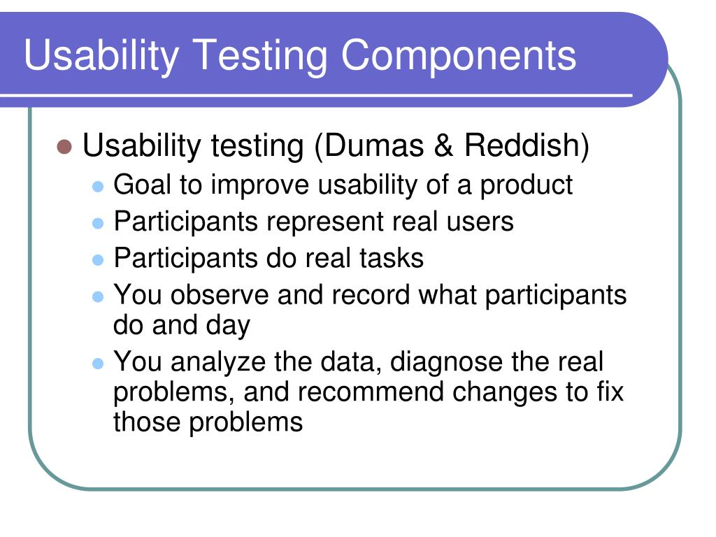 Usability Testing Components