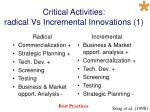 critical activities radical vs incremental innovations 1