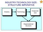 industry technology size structure imperative